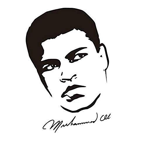 Zykang 3D Wandaufkleber Boxen Muhammad Ali Handschuhe Aufkleber Kick Boxer Spielen Auto Aufkleber Kampf Poster Vinyl Vorderwand Aufkleber Wandaufkleber Dekoration 40 * 58 Cm Anpassbar