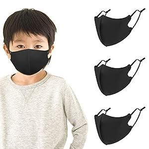 マスク 洗えるマスク 子供用 布マスク フィット感 立体マスク 耳ひも調節可能 耳が痛くなりにくい 呼吸しやすい 抗菌 防臭 繰り返し使える 女性用 小さめ 3枚入 黒