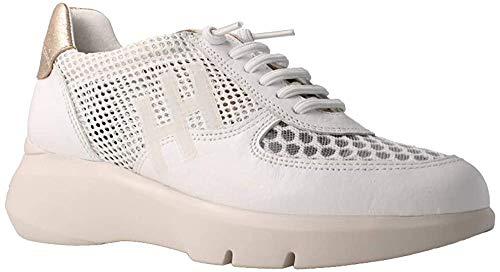 Hispanitas Deportivo White Zapatillas con cuña para Mujer, 37