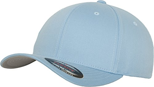 Flexfit Unisex-Erwachsene Wooly Combed 6277 Mütze, Blau (Carolina Blue), XL/XXL