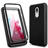 LG Stylo 5 Case/LG Stylo 5 Phone Case,ACKETBOX Heavy Duty Hard PC Back Case+TPU Cover and Bumper Built-in Protective Film Full Body Protective Cover Case for LG Stylo 5 2019 Release(Black)
