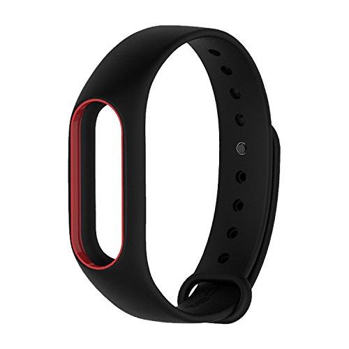 Coosa Xiaomi 2 impermeable, más coloreado para banda, Xiaomi Mi 2, Wireless para pulsera, resistente al agua (No Activity Tracker), color negro+rojo