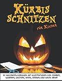 Kürbis schnitzen: Halloween Malerei Schablonen und Kürbis Dekoration für Kinder | Halloween Deko für Die Halloween Party