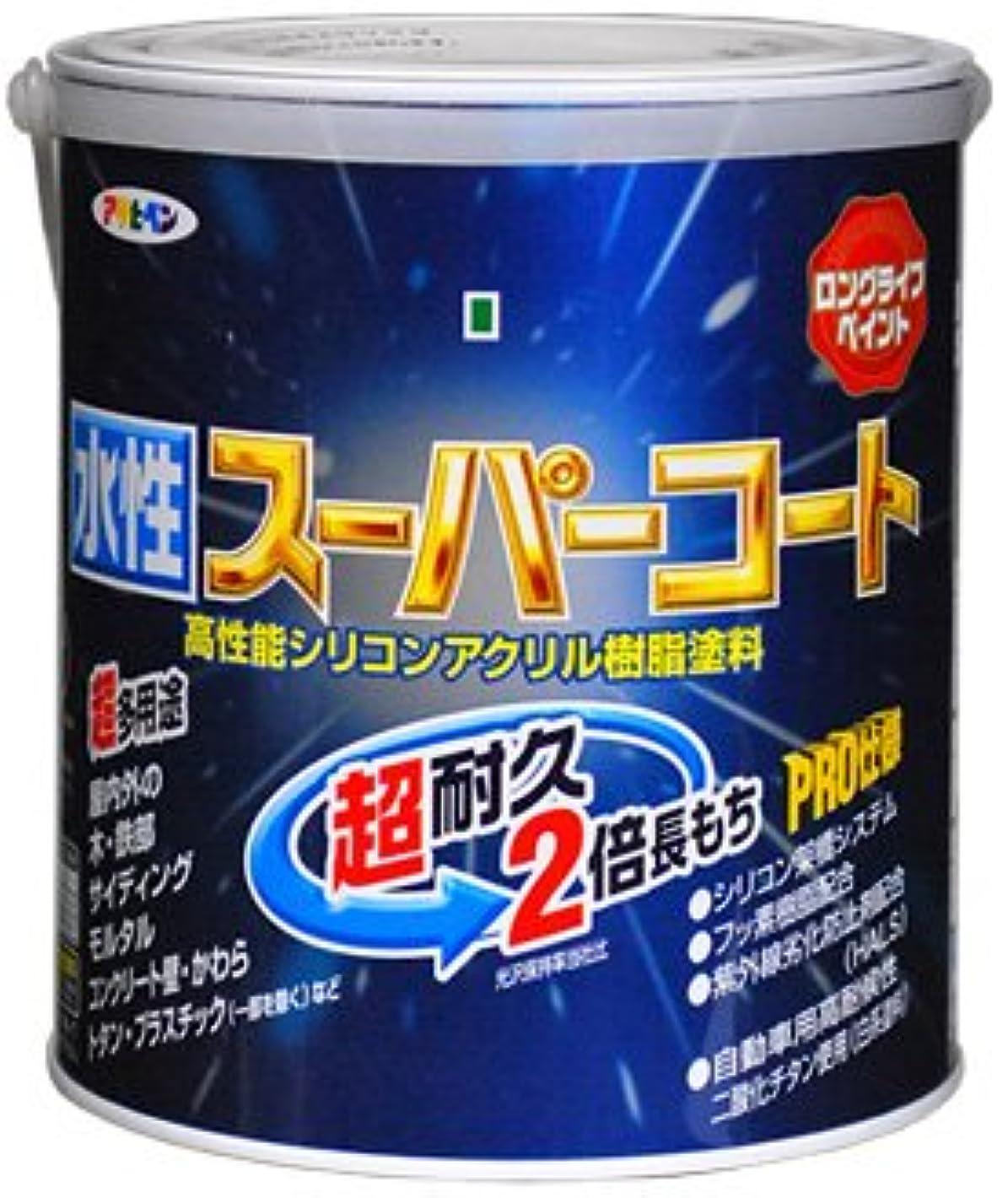 耐久吸収する昼食アサヒペン ペンキ 水性スーパーコート 水性多用途 青 1.6L