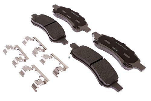 ACDelco Silver 14D1169ACHF1 Ceramic Front Disc Brake Pad Set with Clips