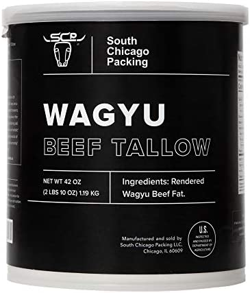 South Chicago Packing Wagyu Beef Tallow 42 Ounces Paleo friendly Keto friendly 100 Pure Wagyu product image
