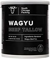 South Chicago Packing Wagyu Beef Tallow, 42 Ounces, Paleo-friendly, Keto-friendly, 100% Pure Wagyu