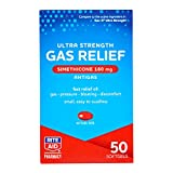 Rite Aid Ultra Strength Gas Relief, Simethicone Softgels Antigas, 180 mg - 50 Count | Gas and Bloating Relief | Anti Gas | Bloating Relief for Women and Men | Acid Reflux Medicine | Acid Reducer Pills