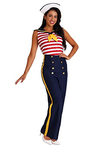 Frauen Plus Größe perfekt Pin Up Sailor Kostüm - 2 X