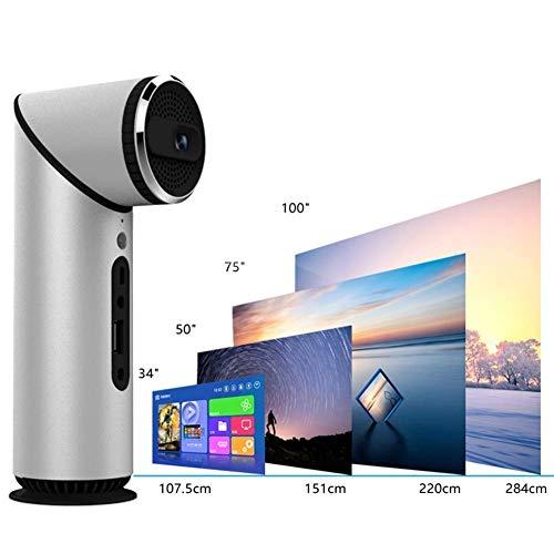 200-Zoll-4500 Bluetooth-Projektor Dlp 360 ° Stereo Quad-Core CPU 4.0 Unterstützung HDI Wiedergabe 4 Stunden Video-Schwarz Projector