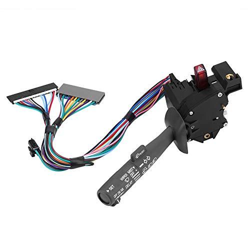 Aramox 26100839 Interruptor de control de crucero de componentes electrónicos y de plástico, interruptor de palanca de señal de giro, interruptor de brazo de limpiaparabrisas, apto para camión Chevy G