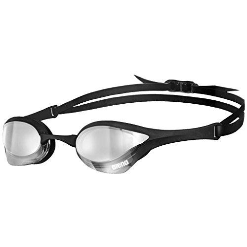 arena Unisex Wettkampf Profi Schwimmbrille Cobra Ultra Mirror (Verspiegelt, UV-Schutz, Anti-Fog Beschichtung), Silver-Black (555), One Size