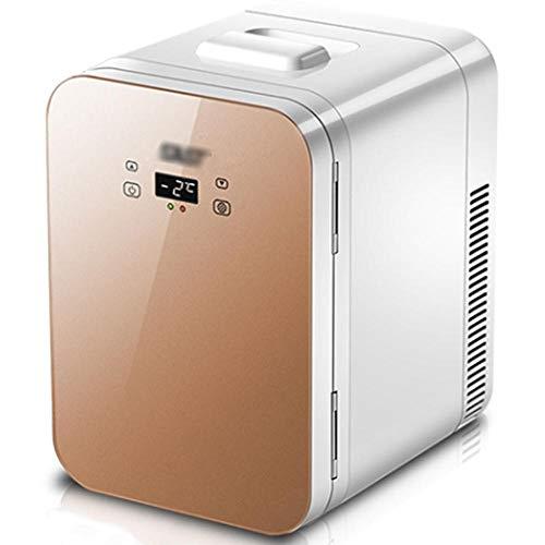 Refrigerador de coche de un solo núcleo de 12L, dormitorio doméstico Mini refrigerador AC/DC, calefacción de doble propósito y caja de refrigeración-oro b_12l