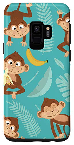 Galaxy S9 Cute Monkey With Banana Case