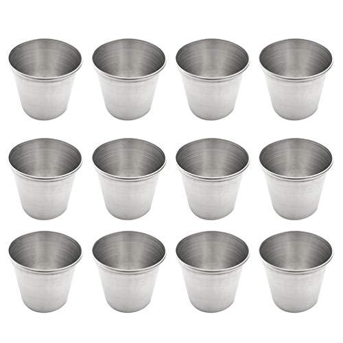 TOYANDONA - 12 Vasos de chupito de Acero Inoxidable para Whisky y...