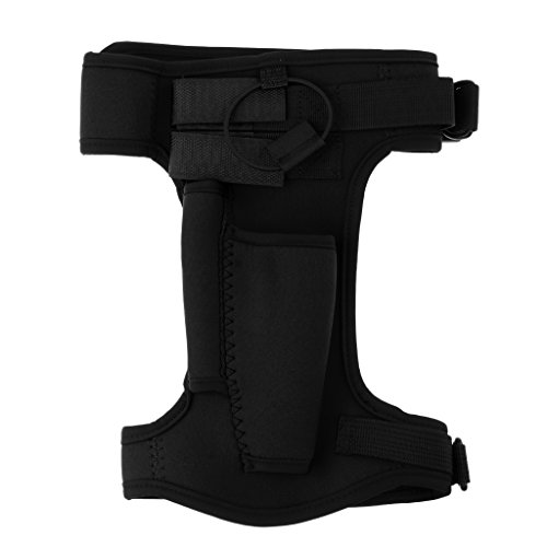 CUTICATE Neoprene Leg Sheath/Arm Strap Holder, One Size Fits Most - Perfect for Scuba Diving, Spearfishing, Snorkeling, Boating, Hunting and Other Sports - Black