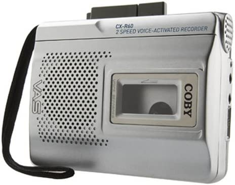new arrival Coby CX-R60 outlet sale Voice Activated online Cassette Recorder outlet sale