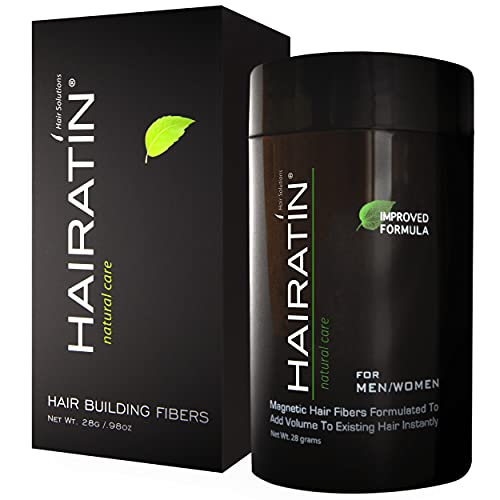 HAIRATIN Hair Building Fibers for Thinning Hair & Hair Loss (DARK BROWN)   Undetectable & Natural   28G Bottle   Completely Conceals Hair Loss   Hair Thickener & Topper for Fine Hair for Women & Men