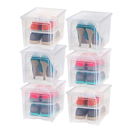 Iris EA-HB Schuhbox für Damen, transparent, 6 Stück