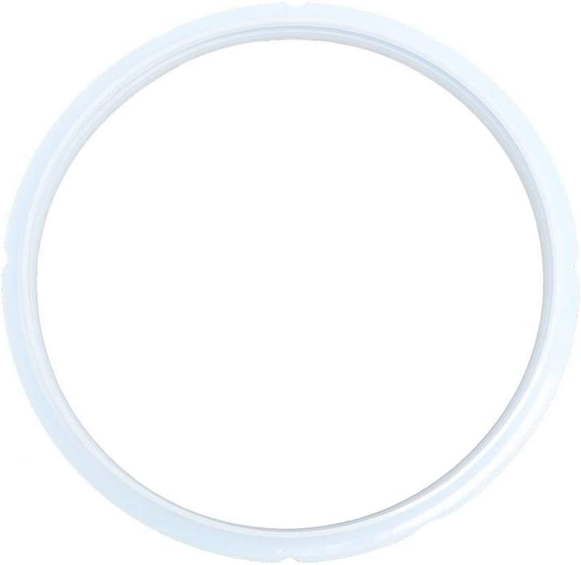 1PC Silicone Sealing Ring for Instant Pressure Cooker 5L/ 6LQT Replacement Silicone Gasket Seal Rings Pressure Cooker Seal Ring Gasket Accessories (White)