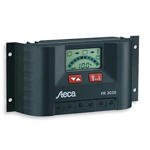 Steca PR3030 3030 Solarladeregler mit LCD Display und Lastausgang für 12V Verbraucher bis 30A