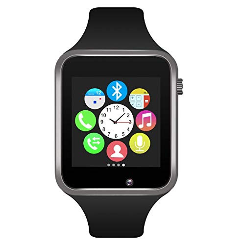 Aeifond Smart Watch - Fitness Tracker Watch Touchscreen Bluetooth Smartwatch Wrist Watch with Camera Pedometer SIM TF Card Slot Compatible Samsung Android iPhone iOS Kids Men Women (Black)