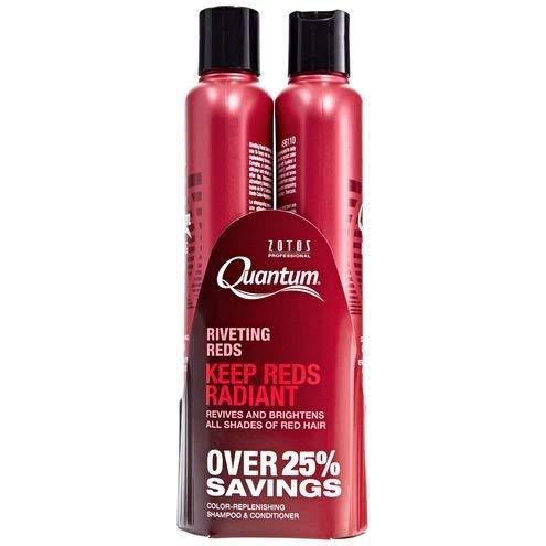 Zotos Quantum Riveting Reds Shampoo & Conditioner Set 10. 2 oz - Restores Red Colored Hair!