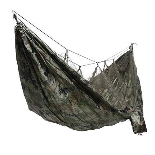 Léger camping hamac hamac plage et moustiques shaker net sac à dos de survie en plein air ou Voyage (Color : Camouflage)