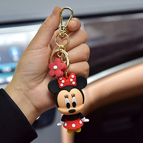 Disney Children Doll Pendatn Mickey Mouse Donald Duck Keychain Bag Pendant Small Gift Bag Flowers Key chain Event souvenirs 2