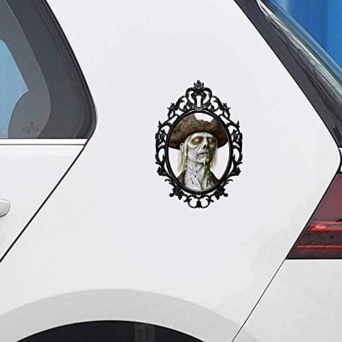 13 cm x 8,9 cm Halloween Terror Hexenspiegel 3D Auto Aufkleber Auto SUV Grafik Dekor Fenster Stoßstange Karosserie Aufkleber