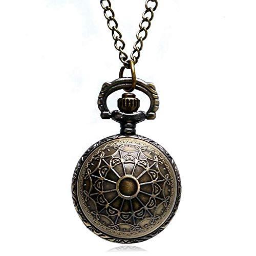 XTQDM Reloj de Bolsillo,Pequeño Collar Lindo Superior Suave Bola de Snitch Dorada Reloj de Bolsillo de Cuarzo Colgante Cadena Regalos para Hombres Mujeres niños Retro