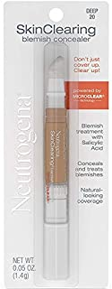 Neutrogena SkinClearing Blemish Concealer Face Makeup with Salicylic Acid Acne Medicine, Non-Comedogenic and Oil-Free Conc...