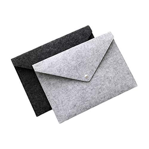 YeahiBaby 2 Stück A4 Ordner Filzmappe Ausziehbare Dokumentenmappe Tragbare Filzhalter Dokumentenmappe Aktentasche (dunkelgrau und Hellgrau)