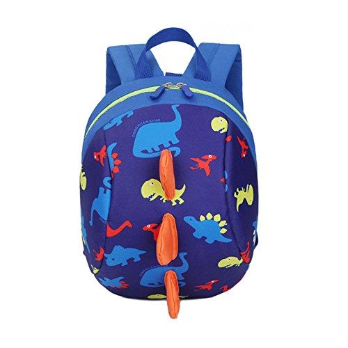 DafenQ 3D Carina Dinosauro Zaino per bambini Zaino Kindergarten Sveglio Zaini per Infanzia Ragazze Ragazzi (Blu)