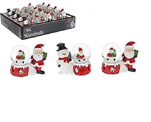 Toyland® Santa mit Schneekugel - Kleine Schneekugel