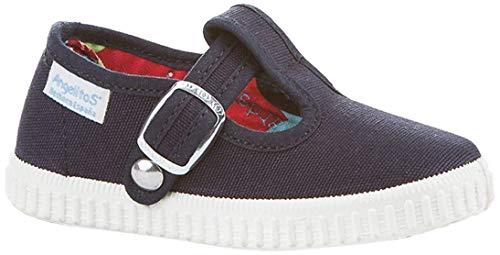 Zapatillas Pepito de Lona para Niños, Angelitos mod.122, Calzado infantil Made in Spain, Garantia de Calidad. (25, Azul Marino)