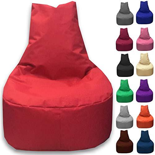 Sitzbag Sitzsack Sessel XL - XXL für Kinder und Erwachsene - In & Outdoor Sitzsäcke Kissen Sofa Hocker Sitzkissen Bodenkissen (XXL - 80cm Durchmesser, Rot)