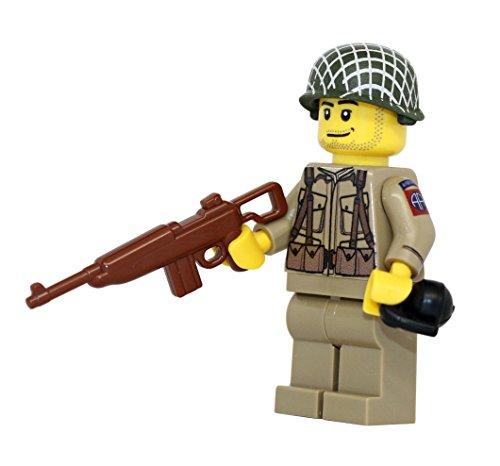 US Army American WW2 82nd Airborne Ranger Soldier - Modern Brick Warfare Custom Minifigure