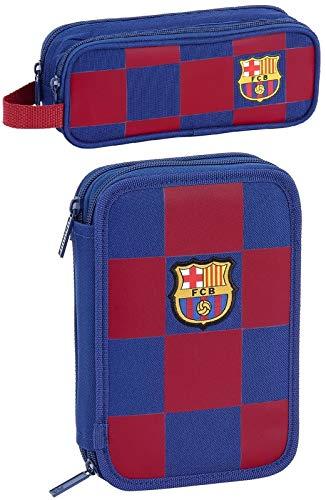 rainbowFUN.de FC Barcelona - Estuche escolar con 2 compartimentos y estuche