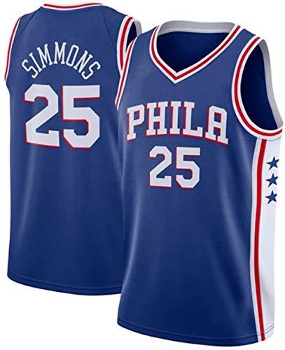 Zxwzzz Simmons No.25 Philadelphia 76ers Jersey Baloncesto de los Hombres, de Doble Capa Transpirable Atleta Jersey Traje Camiseta del Entrenamiento, Uniforme Formación del Miami Heat No.25