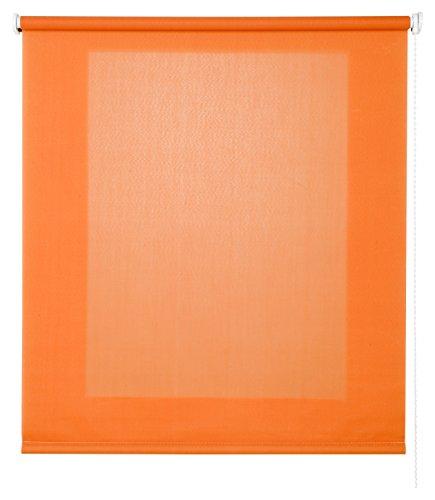 Estores Basic- Enrollable Traslúcido , Naranja, 90x175 cm