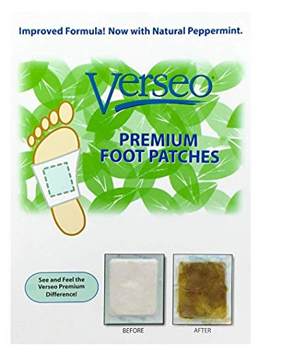 Verseo Overnight Cleansing Foot Pads, Tourmaline Pads to Clean and Energize Your Body (10)