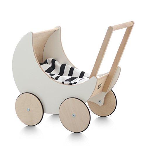 ooh noo(オーノー) 手押し車 トイプラム 木のおもちゃ インテリア ハンドメイド Toy Pram White