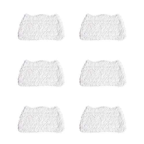 ToDIDAF Dampfreiniger/Dampfbesen/Steam Mop Zubehör, 6 Stück Mop für Shark S3101 Dreischicht-Handtuchmopp Mikrofaser Mopp Ersatzzubehör Lappen