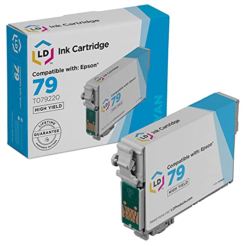 LD Remanufactured Ink Cartridge Replacement for Epson 79 T079220 High Yield (Cyan)