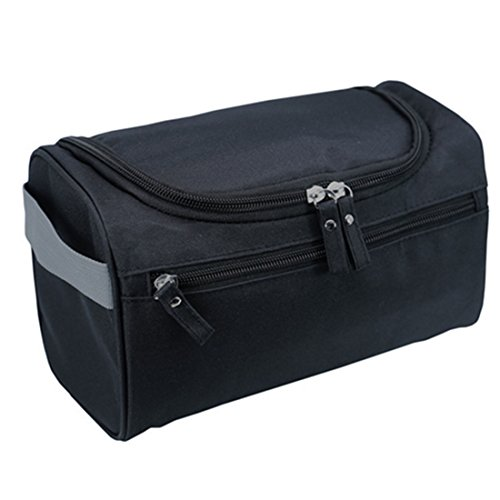 Organizador impermeable de cosméticos para hombres, para viajes de negocios, de 26 x 15 x 16 cm negro negro
