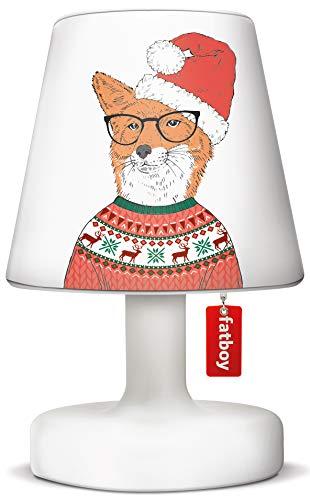 Fatboy Edison The Petit Tischlampe mit Christmas Cooper Cappie/Lampenschirm Furry Nice - Akku LED X-Mas Leuchte für den In- und Outdoor Bereich