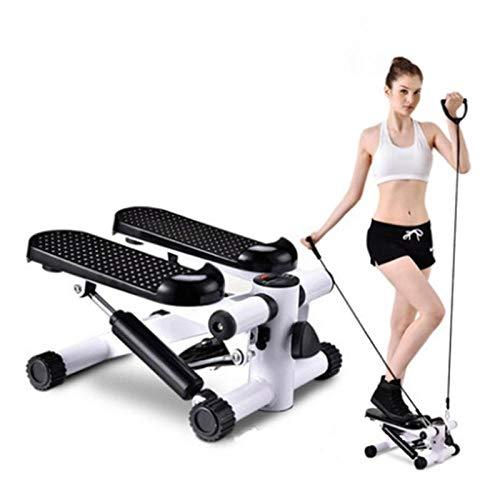 YSYSZYN Stepper Cardio Fitness, Mini Stepper, Ejercicio Aparatos para Hacer Ejercicio en Casa, Up-Down Stepper con Pantalla LED y Cuerdas de Resistencia, Carga máxima -150KG