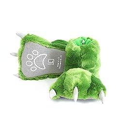 3. Millffy Fluffy Stuffed Dinosaur Claw Slippers