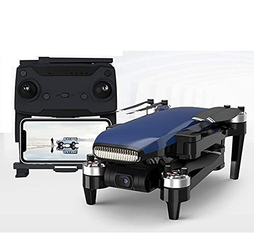 JJDSN Best Drone 5G Transmisión de Imagen 5000m Adultos Drones con cámara de cardán de 3 Ejes 4k y 35 Minutos de Tiempo de Vuelo sin escobillas RC Quadcopter GPS WiFi FPV Drone, Azul, 2 baterías